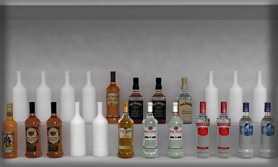 Bacardi Ideal Backbar setup